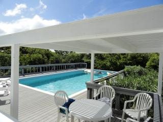 Pool and pergola over pool dining area