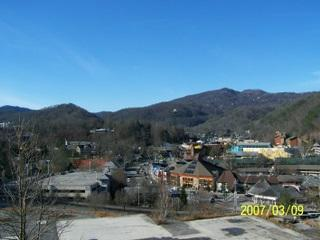 Balcony with View of Downtown Gatlinburg