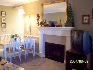 Condo Living Room with Gas Fireplace