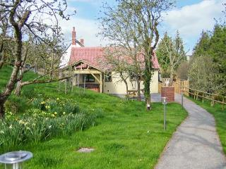 ORCHARD COTTAGE, barn conversion, with open plan living area, hot tub and countryside views in Shells near Washford, Ref 13806