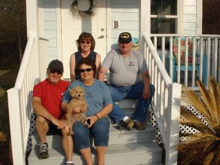 Jim, Debbie and Fergie/ Illinois   Pat and Linda and Roscoe next year  Feb. 2014