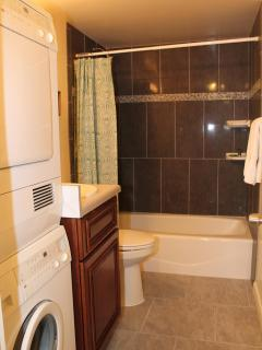 Guest Bath with washer & Dryer
