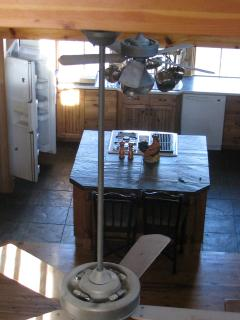 Overhead view of the kitchen