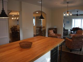 ~Kitchen Island Overlooking Sitting Area, Dining Room and Living Room~