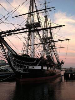 USS Constitution, 'Old Ironsides,' on Boston harbor in our neighborhood of Charlestown, Boston's oldest