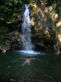 The Falls on the Carbonera River are a close walk from Casa Dos Rios