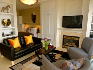 Comfortable Seating Around Gas Fireplace