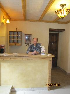 The owner, Janos Simon at the reseption desk
