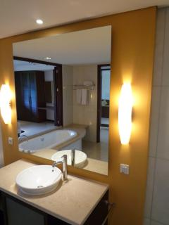 Attached Bathroom to Master Room with marble