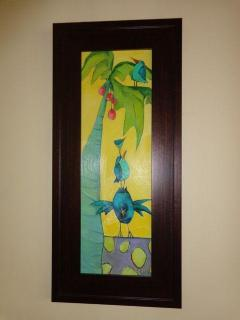 Colorful art in the Master Suite