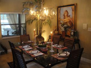 Formal Dining Room with High Ceilings Seats Six