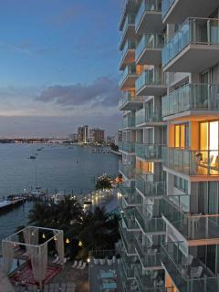 Privately rented  bay view balcony suites in the Mondrian hotel/condo