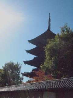 To-ji temple: 10 min by bus