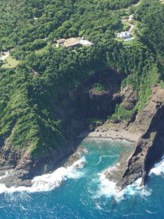 Aerial view of the cliff