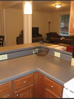 Large Kitchen with everything you need for your stay!