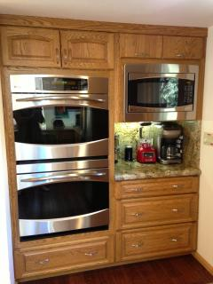 Stainless steel appliances - 2 ovens and a gas range