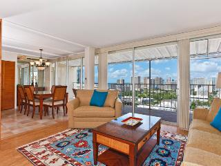 Marine Surf #PH4 - Ocean view extra large one-bedroom with washlets, WiFi, AC, parking, sleeps 6 - Waikiki vacation rentals