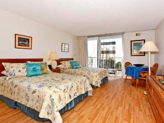 Marine Surf #803 - Central Waikiki studio, washlet, AC, close to shopping, beaches! Sleeps 3. - Waikiki vacation rentals