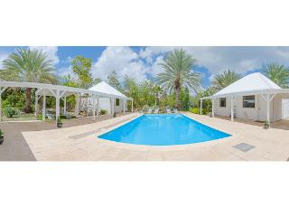 GREYSTONE...beautiful French Caribbean-style villa surrounded by lush tropical gardens, Terres Basses