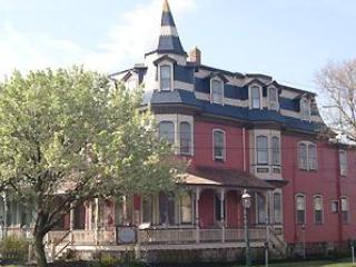 "Columbia House: One of Cape May's brightly colored ""Painted Ladies"""