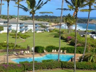 Free Car with Poipu Sands 122 Ocean View two bedroom on the beautiful Poipu greenbelt - Kauai vacation rentals