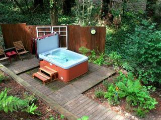 'The Little Red House!' Hot Tub! 5 min walk to Golf Course! Brand NEW Rental!, Guerneville
