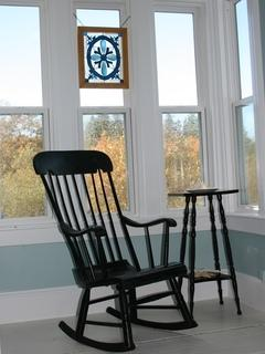 Rocking Chair in the window ... lovely!