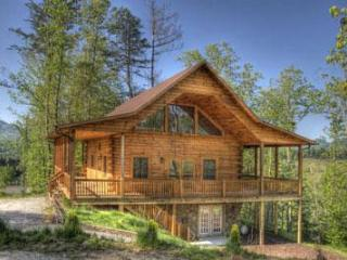 Deep Creek Overlook Luxury Log Cabin with Gameroom, Bryson City