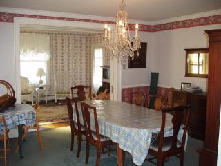 Expansive dining room has room for 2 tables
