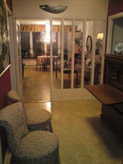 View from entry hall towards the living room