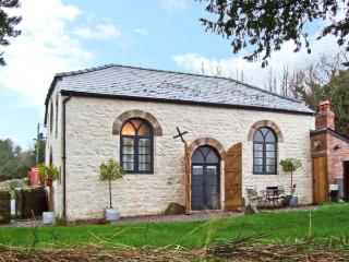 THE OLD BAPTIST CHAPEL, unique cottage, two en-suite bedrooms, woodburner, enclosed garden, near Monmouth, Ref 22484