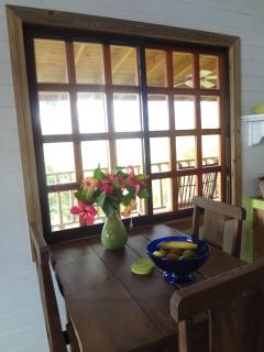 Tree Top Cottage dining space, can be set for 4