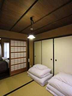 Japanese bedroom in Fushzome-an