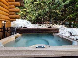 Two beautiful mountain cabins with hot tub, sleeps 30!, Government Camp