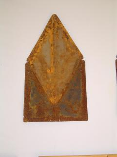 Tin roof tiles from an 1800's house in nearb
