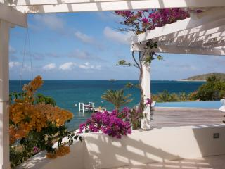 Sea front villa in Nonsuch Bay;  own beach & docks, Antigua
