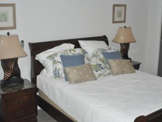 Master bedroom Queen bed with a large walk in closet
