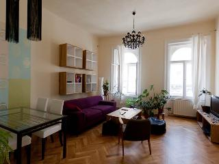 3 BR Designer Apartment with A/c for 6 Persons, Budapeste