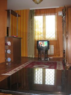 Living room on the Avenue side (the TV set on the photo, has been replaced by a flat screen TV set).