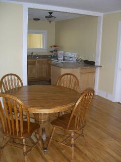Eating area open to kitchen
