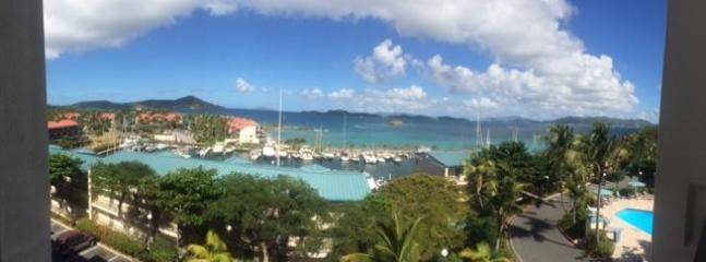 Here is a panoramic picture I took from our balcony.