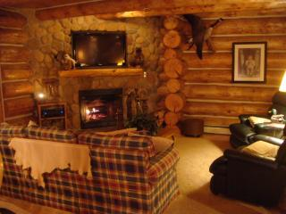 Custom Log Cabin in the Heart of the Manistee National Forest, Brethren