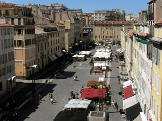 The Italian square: Another view from the balcony...