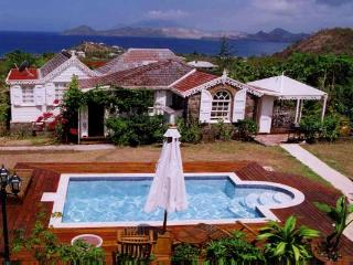 Antilles- style cottage plus separate master- cottage, overlooking St. Kitts. KL LAM, San Cristóbal y Nieves