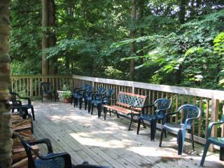 Trilogy Lodge with large porch and stairs to Lake - Watervliet vacation rentals
