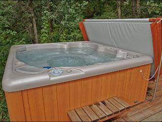 Nice New Private Hot Tub, right outside on the lower deck.