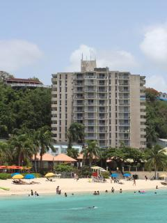view from the beach