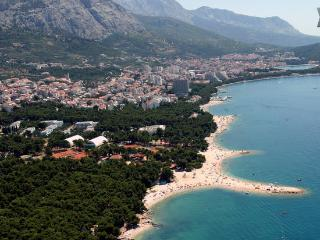 Apartment Bungalow Wi-Fi+2 bikes 100m sea in court, Makarska