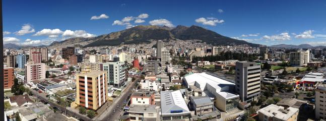 Stunning city and mountains view from the whole apartment