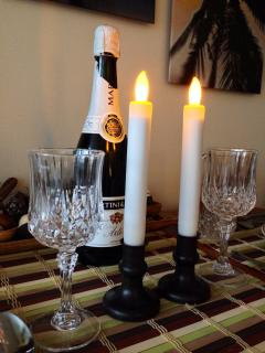Candle dinner romantic